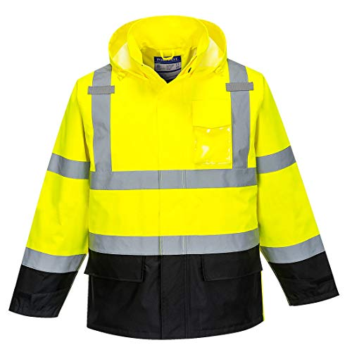 - Portwest Hi-Vis Contrast Rain Jacket Viz Insulated Safety Visability Work Wear Rain ANSI 3, XXL