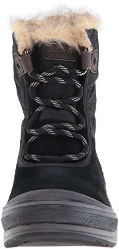 Clarks Womens Muckers Mist Snow Boot Nero Suede / Tessile