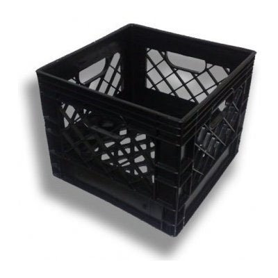 16qt (4-1 Gallon) New Plastic Milk Crates 4 Pack.