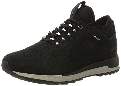 Noir Sneakers Femme Geox A D Basses black B Aneko Abx X8wH0X