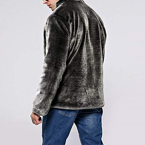 Cappotto Caldo Invernale Uomini Pelliccia Silber Huixin Basamento Giacca Di Outwear Di Finto Collare Abbigliamento S1FRqq