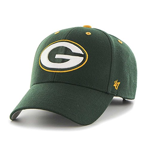 47 Brand Men's NFL Audible Team Adjustable Hat (Green Bay Packers (Green)) (Stitched Jersey Swingman)