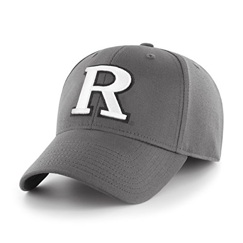OTS NCAA Rutgers Scarlet Knights Comer Center Stretch Fit Hat, Charcoal, Medium/Large