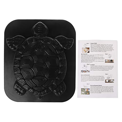 yaonow Turtle Stepping Stone Mold Concrete Cement Mould Tortoise Garden Path (Mold Stone Abs Plastic Stepping)