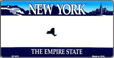 New York Novelty State Background Bicycle License Plate BP-075 by Smart Blonde