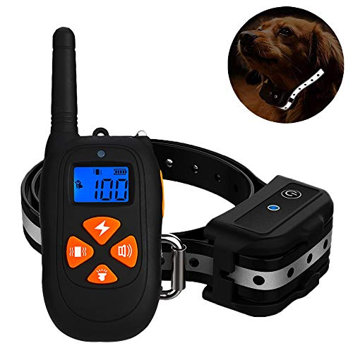 Anskp Dog Training Collar Upgraded Version 2000ft Remote Training and 100% Waterproof Rechargeable Dog Shock Collar with Beep Vibration Shock for Small Medium Large Dogs