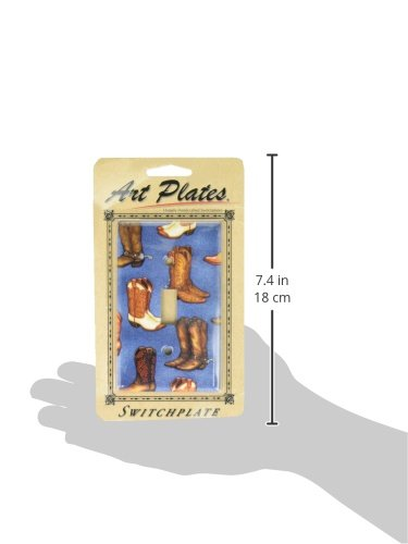 Art Plates Switch Plate Cowboy Boots Double Rocker Denim