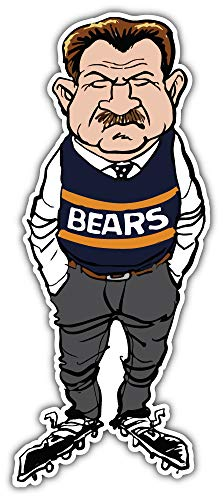 Sport Chicago Bears NFL Mike Ditka Car Bumper Sticker Decal 3'' X 6'' ()