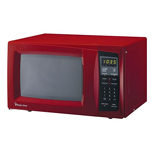 Magic Chef Small Countertop Microwave in Red