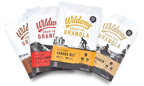 Wildway Grain-free Granola Snack Pack Variety 4-pack (Certified gluten-free, Paleo, Vegan, Non-GMO)