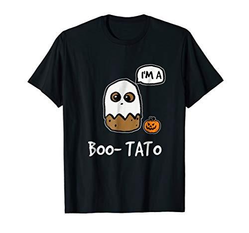 Funny Happy Halloween Boo-Tato T-Shirt Potato Boo Custume