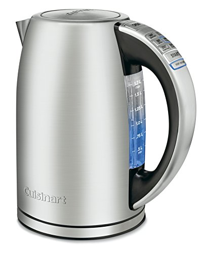 Review Cuisinart CPK-17AMZ Perfect Temp Cordless Programmable Kettle, Stainless Steel
