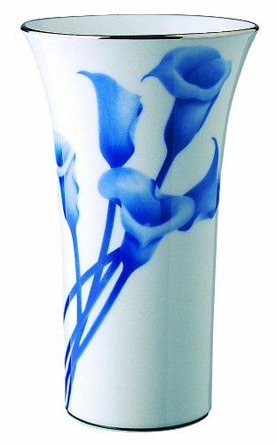 香蘭社 染付陽刻薔薇 花瓶 674-NW9 B00H39QP4Q 高270mm|タイプ:染付陽刻薔薇 高270mm