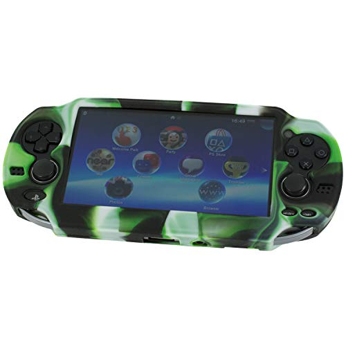 (Assecure Pro Camouflage Silicone Gel Skin Protector Cover Protective Camo Rubber Bumper Grip Case for Sony PS Vita (PSP PSV))