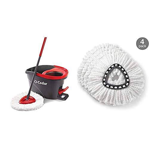related image of O-Cedar EasyWring Microfiber Spin Mop, Bucket