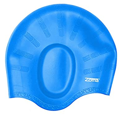Swim Cap for Women and Men with Average or Large Heads - Great for Adults, Older Kids, Boys and Girls - FREE Nose Clip
