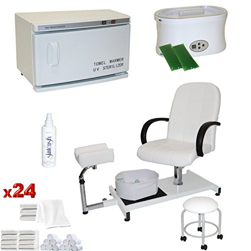 LCL Beauty White Pedicure Chair Hot Towel Warmer & for sale  Delivered anywhere in USA