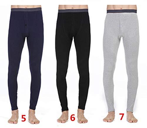 3Pcs Hot Winter Men Long Johns Cotton Thermal Underwear Men Warm Long Johns Leggings Pants,567,XXL (Pants Womens Polypro)