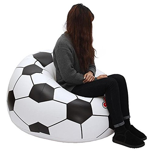 Inflatable Sofa Review: Generic Football Design Inflatable Sofa Outdoor Camping