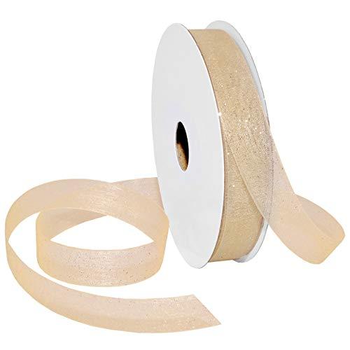 (Morex Ribbon 950 Sugar Sheer Ribbon 5/8 inch by 25 Yard Ivory)