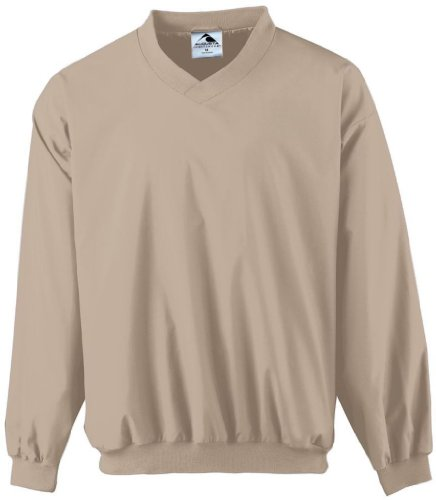 Augusta Sportswear MEN'S MICRO POLY WINDSHIRT/LINED - Stone 3415A 4XL (Windshirt Stone)