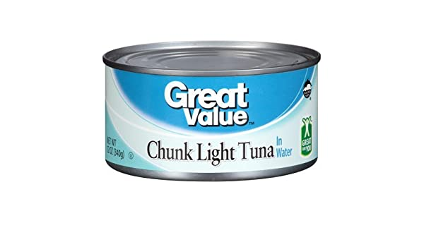 Amazon.com : Great Value Chunk Light Tuna In Water, 12 oz : Grocery & Gourmet Food