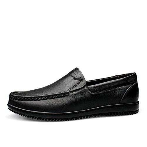 shoes stile uomo a di on Tacco guida piatto Slip punta con Mocassino piatta da unita Xiazhi tacco tinta Mocassino g1dqRRw