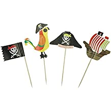 Pirate Cake Cupcake Toppers Food Picks for Party Decorations Set of 20 by GOCROWN