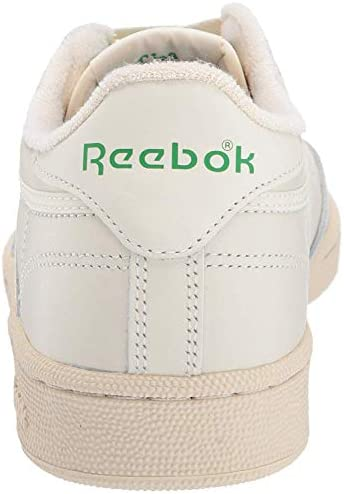 41teF2jE1ZL. AC Reebok Women's Club C 85 Vintage Sneakers    ImportedRubber soleShaft measures approximately low-top from archDURABLE AND LIGHTWEIGHT MATERIAL: These sneakers feature soft garment leather upper for full-foot support with terry lining on tongue top and heel for comfort with vintage woven Reebok label that adds appeal and styleEFFICIENT FOOT SUPPORT: Die-cut EVA midsole absorbs impact and a padded foam sockliner provides responsive cushioning support which lasts many strolls and jogsCOMFORTABLE AND STURDY DESIGN: Low-cut design gives a sleek and sophisticated silhouette with freedom of motion and quicker transition keeps you moving all day longHIGH-PERFORMANCE CASUAL SHOES: High abrasion rubber outsole adds durable responsiveness; Ideal for daily, casual and athleisure wear