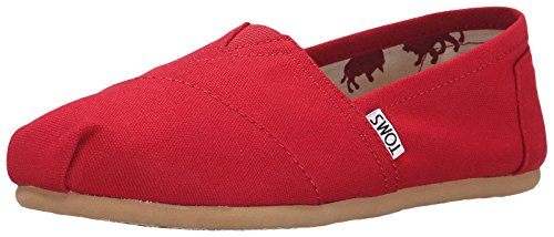 Toms Women's 001001b07-Canvas Wm Clsc Alpargata Flat, red, 6.5 M US