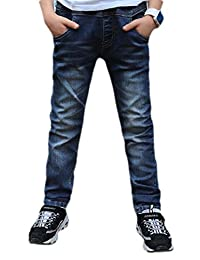 pipigo Boys Slim Fit Washed Denim Childrens Pants Jeans