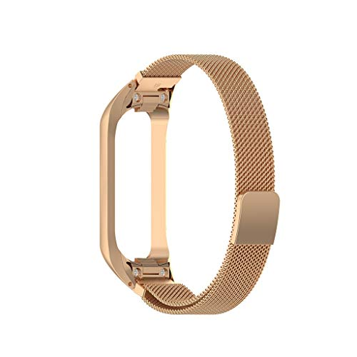 AutumnFall Unisex Milanese Magnetic Bracelet Replacement Watch Band Strap for Samsung Galaxy Fit-e Band R375 (Rose Gold)