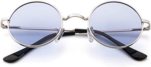 Menton Ezil Lennon Style Polarized Circle Sunglasses Ozzy Elton Hippie Round Small Vintage Design Shades Lifetime Breakage Guarantee