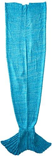 LAGHCAT Mermaid Tail Blanket with Scale Knit Crochet Mermaid Blanket for Adult/Kids,Sleeping Blanket