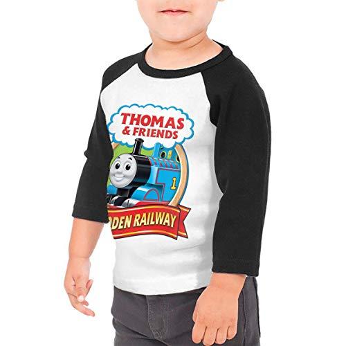 Black6Red Thomas The Tank Engine & Friends Children's 3/4 Sleeve T-Shirt 5/6T