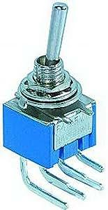 McVoice miniatura conmutador McVoice 250V/3A, 6 polos, 90 ° ángulo, 2 posiciones: un / a