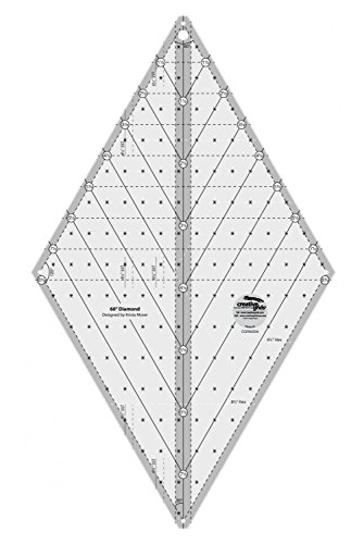 - Creative Grids 60-Degree Diamond Quilting Ruler Template Designed by Krista Moser cgr60DIA