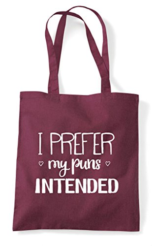 I Tote Burgundy Puns Intended My Statement Prefer Shopper Bag qArnAxpw