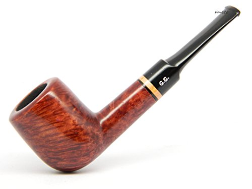 WatsonG.G. – BRIAR Tobacco Smoking pipe – Billiard – Hand Made ( 9mm filter) + Branded Pouch (Special edition for Watson) (Mahogany)