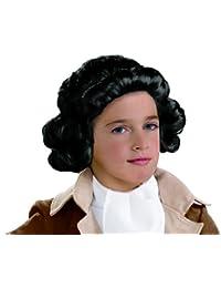 Kids Colonial Boy Wig, Black, One Size