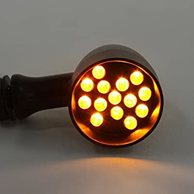 2pcs LED Turn Signal Lights Motorcycle Indicators Blinker Amber Light Universal 12V for Harley Honda Yamaha Suzuki (Turn Signal Lights C): Automotive