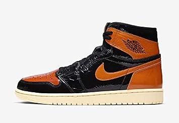 nike air jordan orange and black