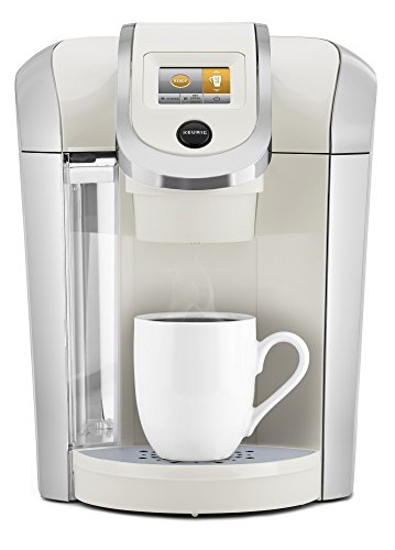 Keurig K475 Single Serve K-Cup Pod Coffee Maker with 12oz Brew Size, Strength Control, and temperature control, Sandy Pearl