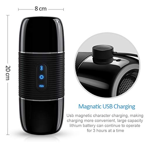 Bluetooth Speaker Airpláne Cup, 3d mou-ning Surround Portable Hands-free Male Másturbation Cup, 8 Vibration Modes Male Séx Toys,T-shirt. (Best Male Masturbation Positions)