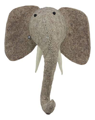 - Ebros Fiona Walker England Handmade Organic Baby Animal Head Wall Decor Mini Safari and Farmland Collection (Mini Elephant)
