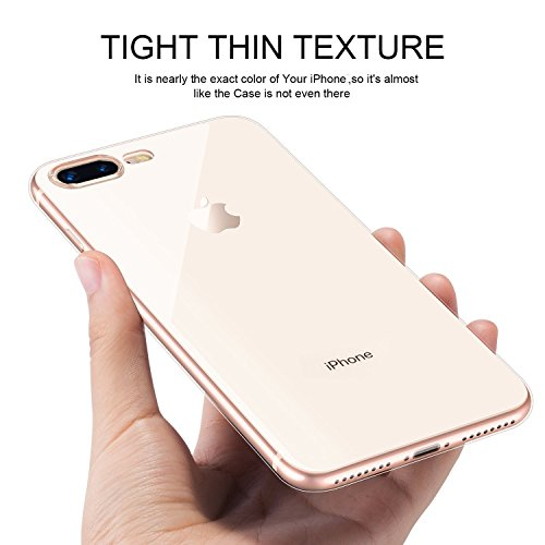 iPhone 7 Plus / 8 Plus Transparent Ultra Clear Travel Friendly Hard Mobile Back Cover High Definition Protective Back Case Support Wireless Charger Waterproof Scratch Resistant 7+/8+ iPhone - Aseptic Control