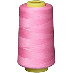 IZO Home Goods 4-Pack of 6000 Yards (EACH) Pink Serger Cone Thread All Purpose Sewing Thread Polyester Spools Overlock (Serger,Over lock, Merrow, Single Needle)