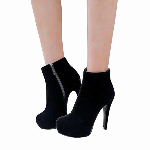 Charm Foot Womens Platform High Heel Dress Ankle Boots Black X6zP78ivg