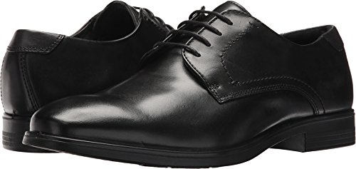 ECCO Men's Melbourne Tie Oxford, Black/Magnet, 47 EU/13-13.5 M US