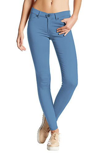 (Womens Super Stretch Comfy Skinny Pants P44876SKX Powder BLU 3X)